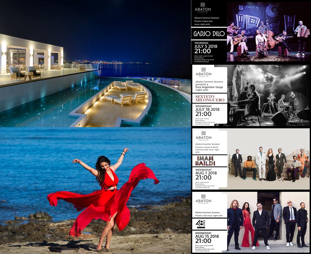 Abendstimmung, Tanz und Konzertprogramm im Abaton Island Resort & Spa