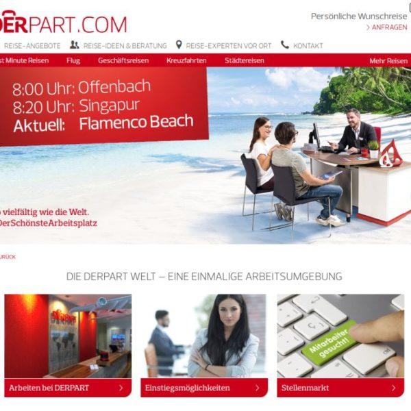 Blick auf die DERPART-Karriereseite