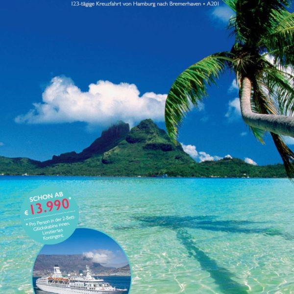 Titel Folder Weltreise MS ASTOR ©TransOcean Kreuzfahrten