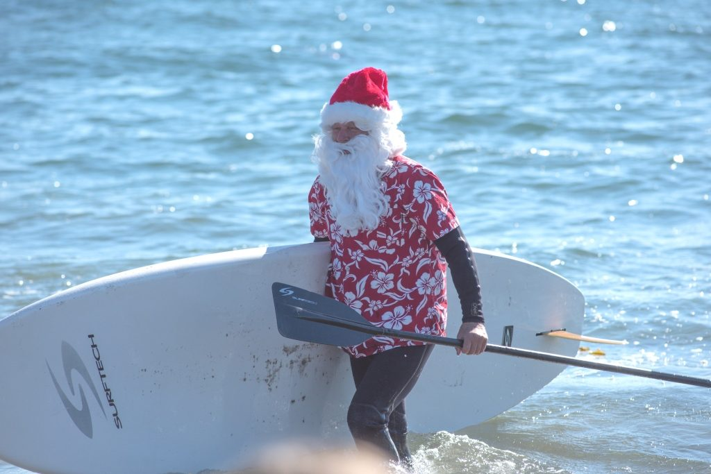 Surfin Santa in Santa Cruz