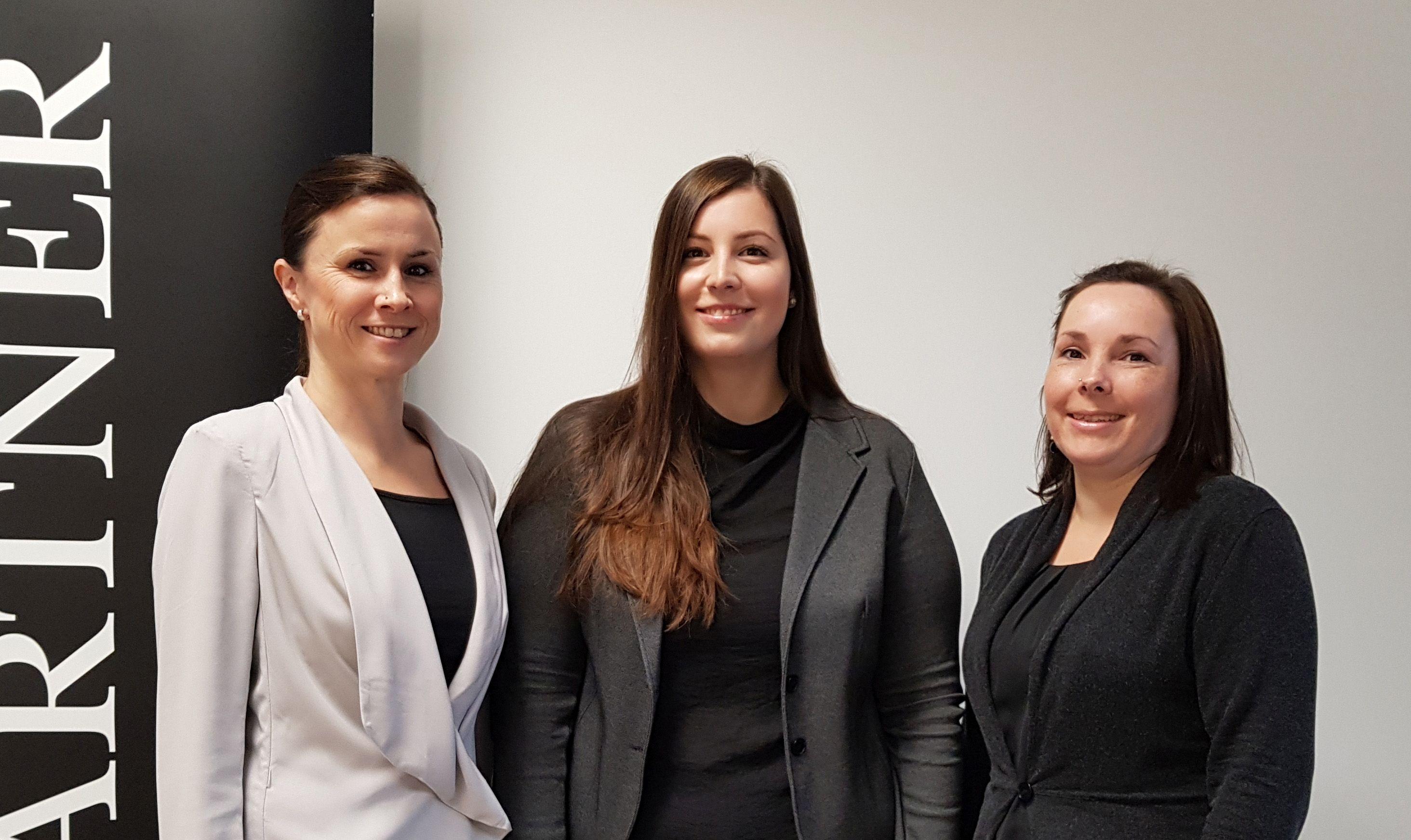 Neue Mitarbeiter: Natascha Müller, Isabel Otterbein, Milena Hass (von links nach rechts) ©AirPartner