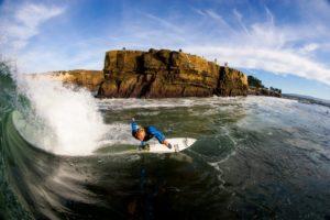 Typisch kalifornisch: Surfer in Santa Cruz