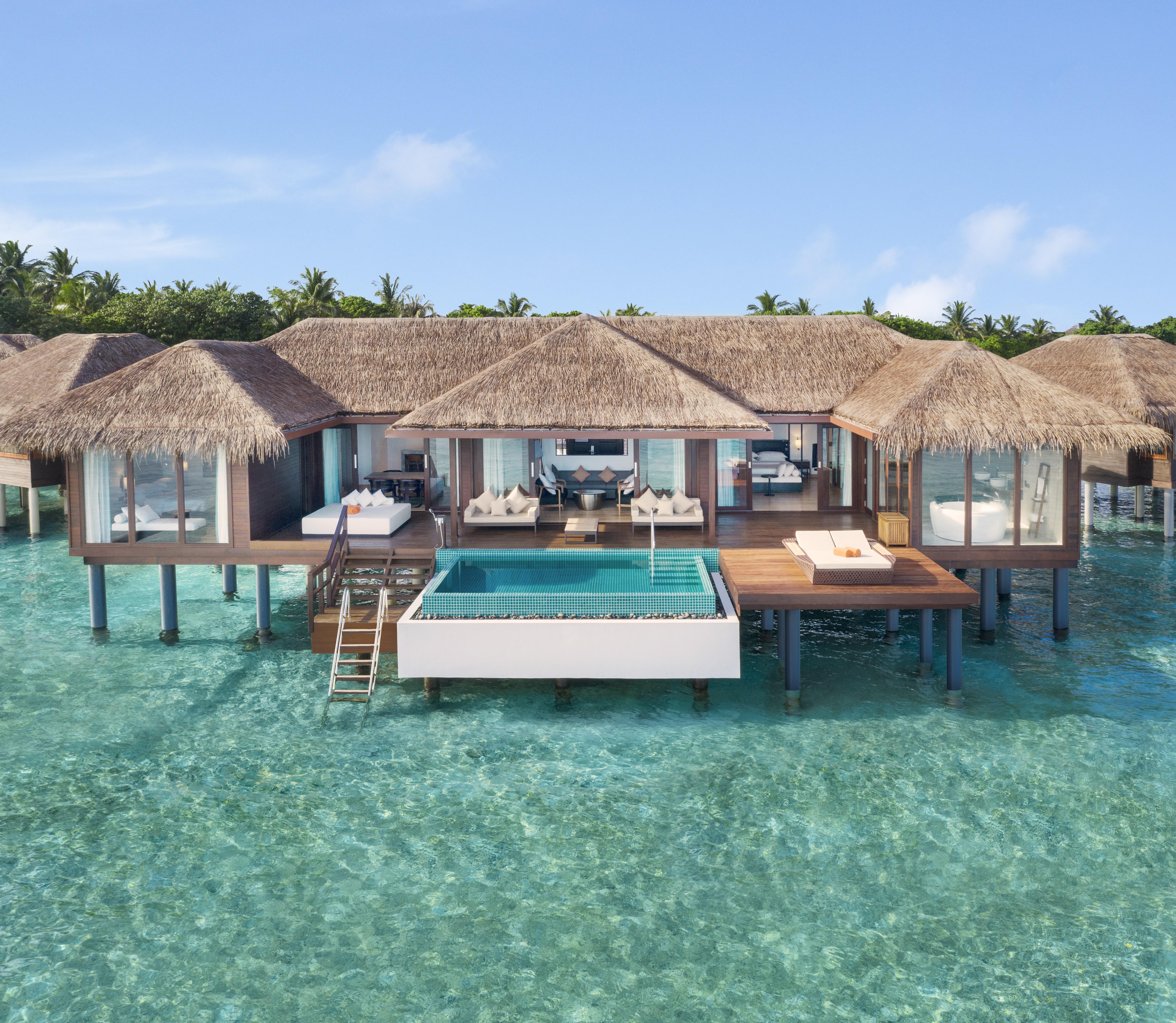 Water Villa with Pool ©Sheraton Maldives Full Moon Resort & Spa