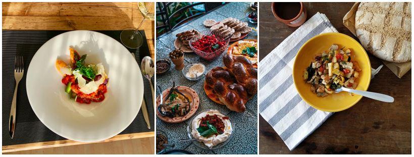 Piccata nach Mailänder Art, Hummus aus Jerusalem und Mallorquinischer Salat